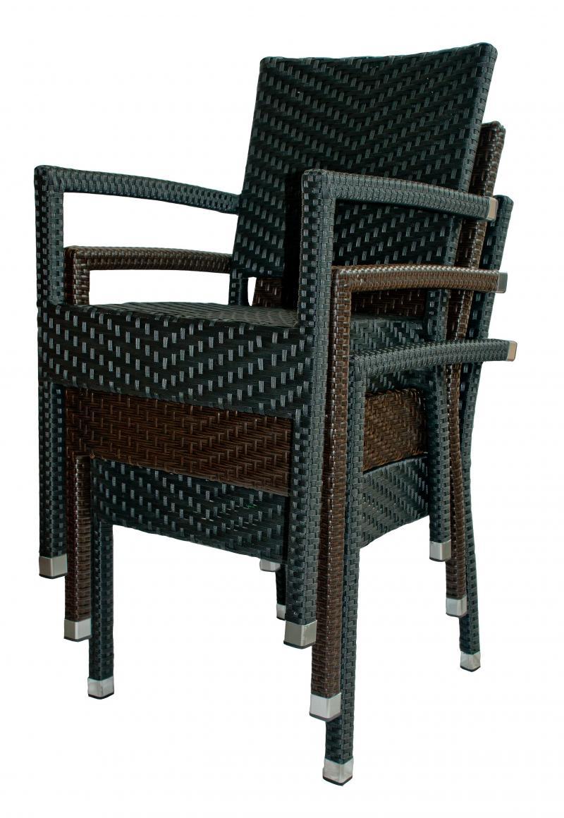 vebo rattanstuhl victory schwarz. Black Bedroom Furniture Sets. Home Design Ideas