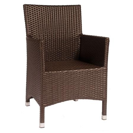 Vebo outdoor sessel victory aus rattan braun for Sessel 200kg