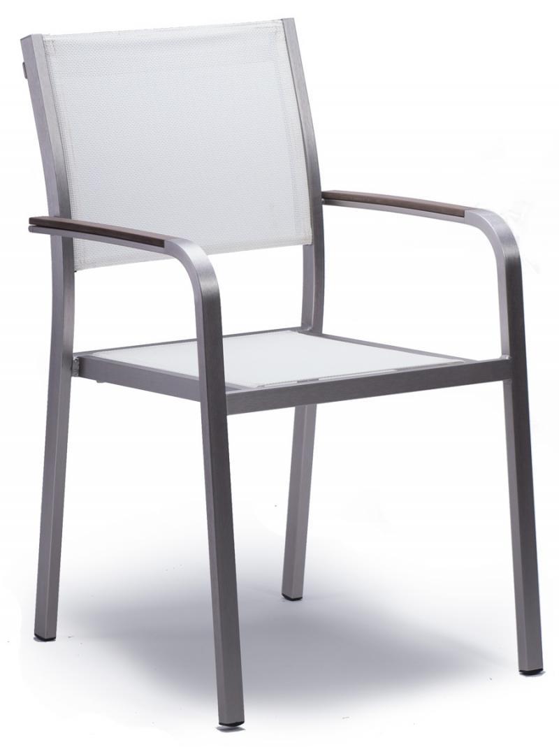 Vebo Outdoor Stuhl Plaza Textilen Weiß